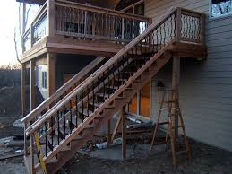 metal handrails for deck stairs. stair railing ideas with metal vertical inserts handrails for deck stairs l
