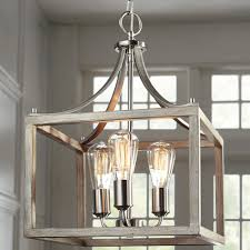 Home Decorators Collection 3 Light Pendant Boswell Quarter Collection Home Decorators Collection Boswell Quarter 14 In 3 Light Brushed Nickel Dining Room Table With Painted Weathered Gray Wood Accents