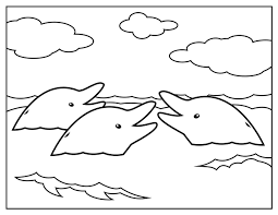 Small Picture Dolphins Appear In Surface Water Coloring Pages For Kids bX4