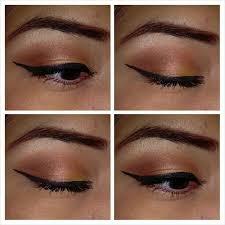 sephora makeup academy palette. all eyeshadows and orange eyeliner from sephora makeup academy palette | peach \u0026 lid t