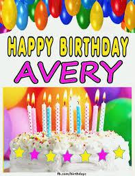 Happy Birthday Avery Happy Birthday Avery Cake Images Gif Happy Birthday Greeting Cards