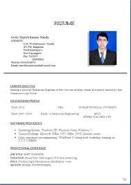Sample Resume For Diploma In Mechanical Engineering Resume Samples