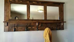 Wall Mirror Coat Rack