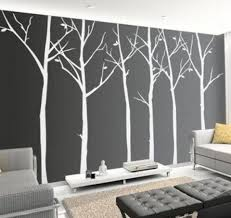 cool office wall art. Cool Office Wall Art White Black Trees Pattern Mural Beautiful Home Design Ideas For Front Decoration 2016 R