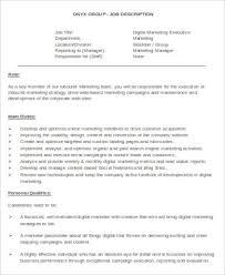 Digital Strategist Resume Sample Digital Marketing Resume 8 Examples In Word Pdf