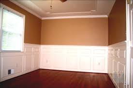 gorgeous wall decoration with wainscoting ideas plus dark cherry wood flooring and cram for home decor