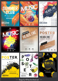 Free Music Poster Templates Music Poster Templates Modern Colorful Dynamic Grunge Decor