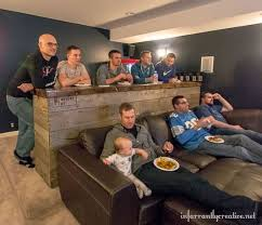 Basement ideas man cave Pinterest Man Cave Wood Pallet Bar Morningchores 42 Amazing Man Cave Ideas That Will Inspire You To Create Your Own