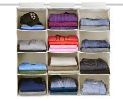 essential hanging 4 shelf closet organizer single