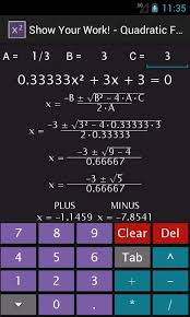 mesmerizing algebra calculator answers with additional quadratic equation solver android apps on google play