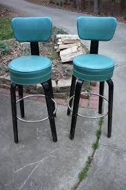 teal blue and black thonet art deco swivel bar stools by gremlina 600 00