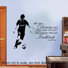 Wall Decal Quotes Classy Lionel Messi Quote Vinyl Wall Stickers Barcelona FC Player JRD48 JR