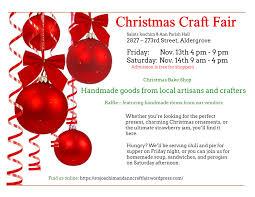 Christmas Craft Aldergrove Saints Joachim Ann Christmas Craft Fair