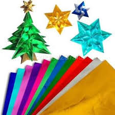 10 Colours Metallic Gold Foil Japanese Origami Paper Chiyogami Fold