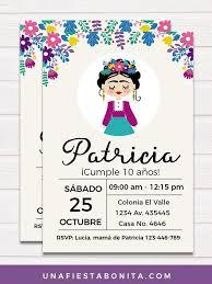Invitaciones Fiesta Frida Kahlo Imprimibles Fiestas Invitacion Girl En 2019