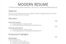 Resume Template Printable