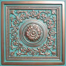 24 x24 majesty antique copper patina pvc 20mil ceiling tiles