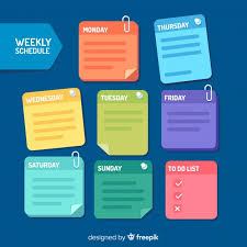 Design Schedule Template Modern Weekly Schedule Template With Flat Design Vector