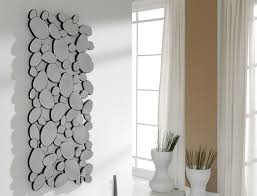 modern many pebbles shaped rectangular wall mirror thumbnail  on rectangular wall art uk with modern many pebbles shaped rectangular wall mirror