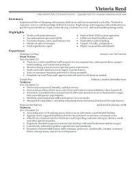 Waitress Skills For Resume Restaurant Waiter Resume Sample Resume Of Waitress Restaurant