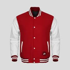 senior class varsity jackets red white