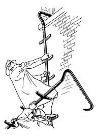 Kleurplaat Brandweerman Met Ladder Afb 18912
