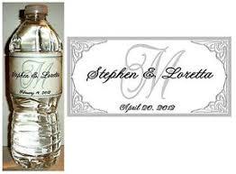 wedding bottle label 50 personalized silver monogram wedding water bottle labels