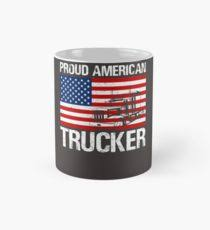 proud american trucker design for truck driving truck driver trucking gifts mug