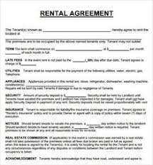 sample rental agreement letter printable sample room rental agreement template form real estate