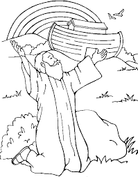 Small Picture Bible Story Coloring Pages God Gives a Rainbow sponsored child