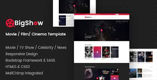 Film Picture Template Bigshow Movie Film Cinema Template By Codepassenger Themeforest