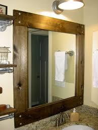 wood framed mirrors. Cherry Wood Framed Bathroom Mirrors