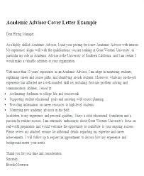 Academic Counselor Cover Letter Academic Advisor Resume Academic