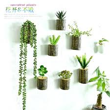 plant wall decor wall tree stump plants imitation flower pots artificial wall decor plants home fake plant wall decor view in gallery hanging