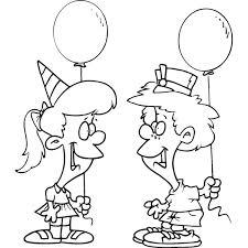 Disegno Di Festa Con Palloncini Da Colorare Per Bambini