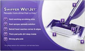 ... Hardwood, And Laminate Floors. Swiffer WetJet® Reveals More Shine Than  A Mop.*