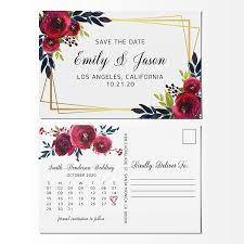 Save The Date Designs Amazon Com Floral Frame Save The Date Postcards Calendar
