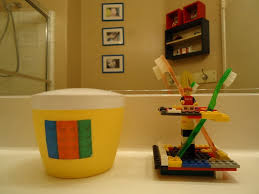 Fun Lego Kids Bathroom Sets Ideas With Lego Toothbrush Holder And Yellow  Toilet Holder