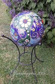 mosaic bowling ball mosaic garden art