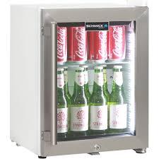 cosmetics drinks mini bar fridge with triple glass door and lock