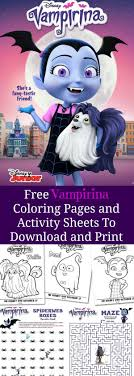 Order a custom coloring page for a special birthday! Free Printable Vampirina Activity Sheets Mommy S Memo