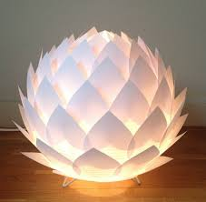 Paper Flower Lamp Self Made Flower Paper Lamp Instructions And Model Ideas
