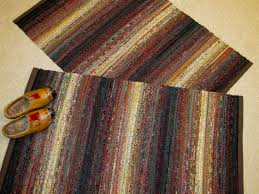 over 200 diffe fabrics were used for this set of earth tone rugs
