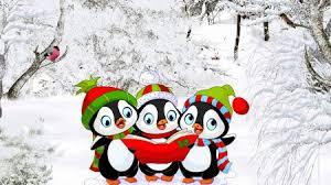 cute penguin christmas wallpaper.  Cute Caroling Penguins  Christmas Feliz Navidad Music Trees Winter Song With Cute Penguin Christmas Wallpaper C