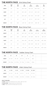North Face Europe Size Chart 21 Timeless North Face Size Guide Age