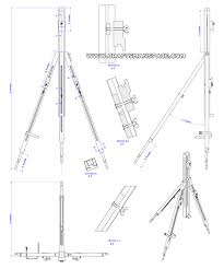 Easel Design Plans Folding Tripod Easel Plan Assembly 2d Drawing Easel Diy
