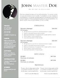 Download Free Resume Template Resumes Templates Free Akersart Us
