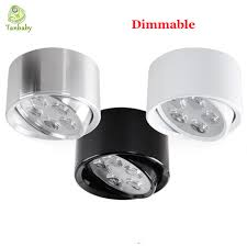 tanbaby 5w dimmable led downlight surface mounted indoor ceiling lights ac110v ac220v luminaria led fixture spotlight
