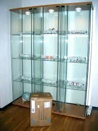 glass y cabinet door light all lighted curio lock review ikea display detolf uk