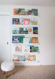 diy book ledge bookshelves